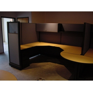 "Remanufactured 6' x 8' x 67"" high Herman Miller AO2 Cubicles"