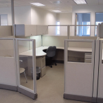 """Remanufactured 8' x 10' x 67""""high step down to 53""""high Herman Miller AO2 Cubicles"""