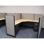 "Remanufactured 6' x 6' x 48"" high Herman Miller AO1 Cubicles"
