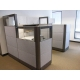 "Remanufactured 6' x 6' x 70"" high step down to 54"" high Herman Miller   Ethospace Cubicles"