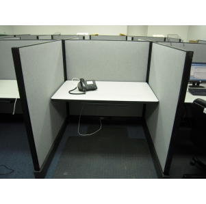 "Remanufactured 4' x 4' x 53"" high Herman Miller AO2 Call Center Cubicles"