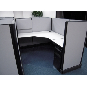 "Remanufactured 5' x 6' x 53""high Herman Miller AO2 Cubicles"