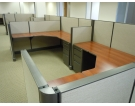 "Remanufactured 6' x 6' x 48"" high step down to 42"" high Herman Miller AO1 Cubicles"