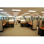 """New 6' x 9' x 70"""" high Tiles Cubicles with Top Tile Glass"""