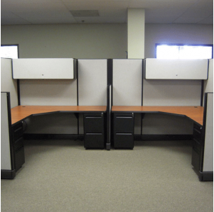 "Remanufactured 6' x 6' x 67""high Herman Miller AO2 Cubicles"