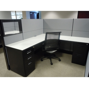 "Remanufactured 6'x6'x54""high Herman Miller Ethospace Cubicles"